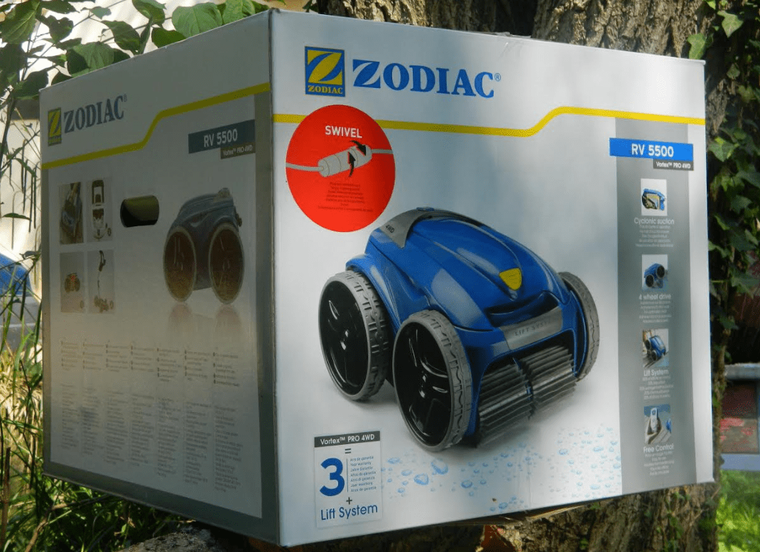Zodiac Vortex RV 5500  Test du robot piscine 4X4  aspiration cyclonique  NeozOne