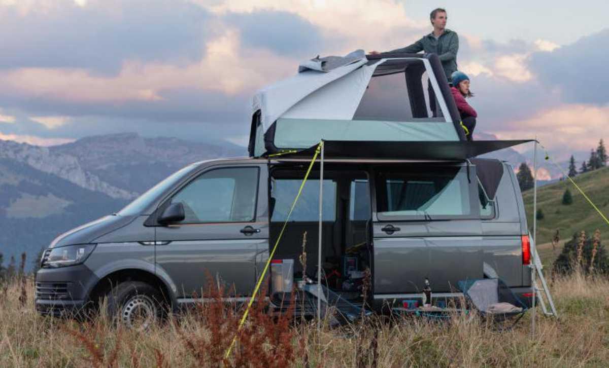 tente de toit gonflable pour camper