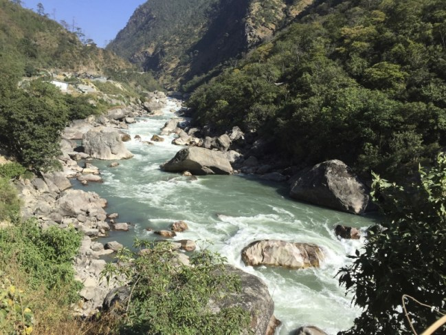 The free flow of the Punatsangchu river will be disrupted by two destructive hydropower projects that are scheduled to be completed by 2018. Bharat Lal Seth