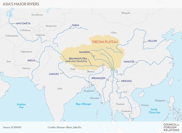 Tibetan Plateau On World Map.Water Clouds On The Tibetan Plateau Nepal Energy Forum