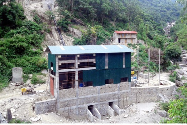 An under-construction building of the Mewa Khola Hydro Electricity Power plant at Lafyang in Diktel Municipality of Khotang district, on Tuesday, September 13, 2016. Photo: RSS