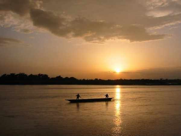 Canoeing in Chitwan, Nepal