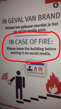 In Case of Fire (Funny Sign)