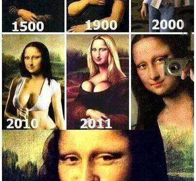Mona Lisa adapting with modern society