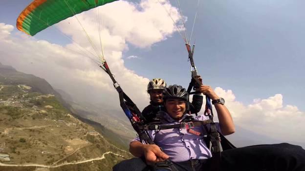 Paragliding Fun in Pokhara, Nepal