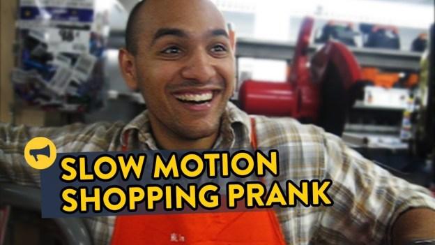 Slow Motion Shopping Prank