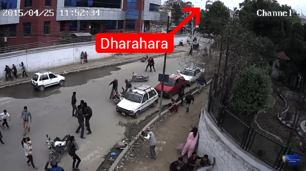 Earthquake CCTV Footage of Dharahara Exclusive Video By Bikash Thapaliya