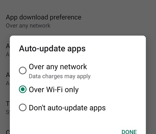 Auto update apps Android