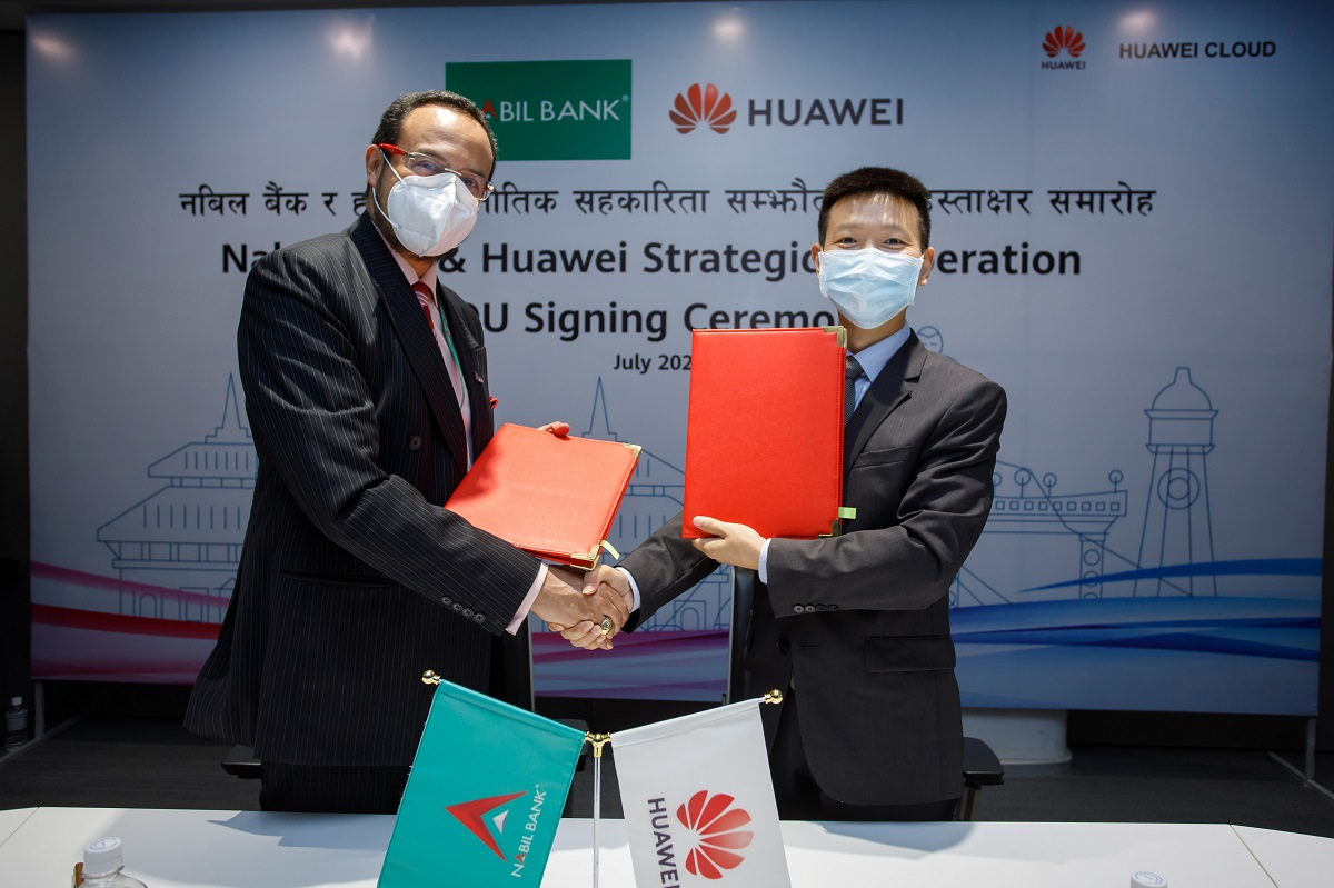 Nabil Bank Huawei agreement digital cooperation
