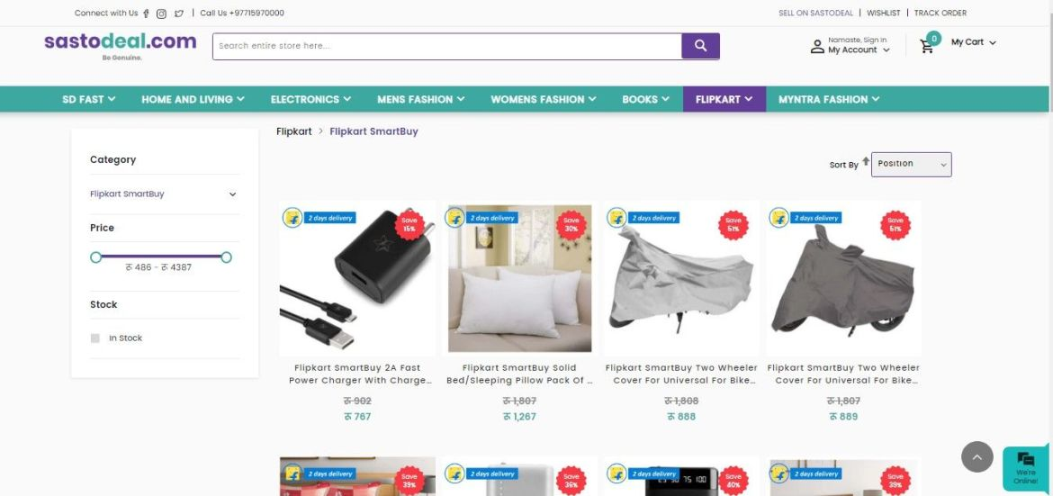 Buy flipkart items in Sastodeal
