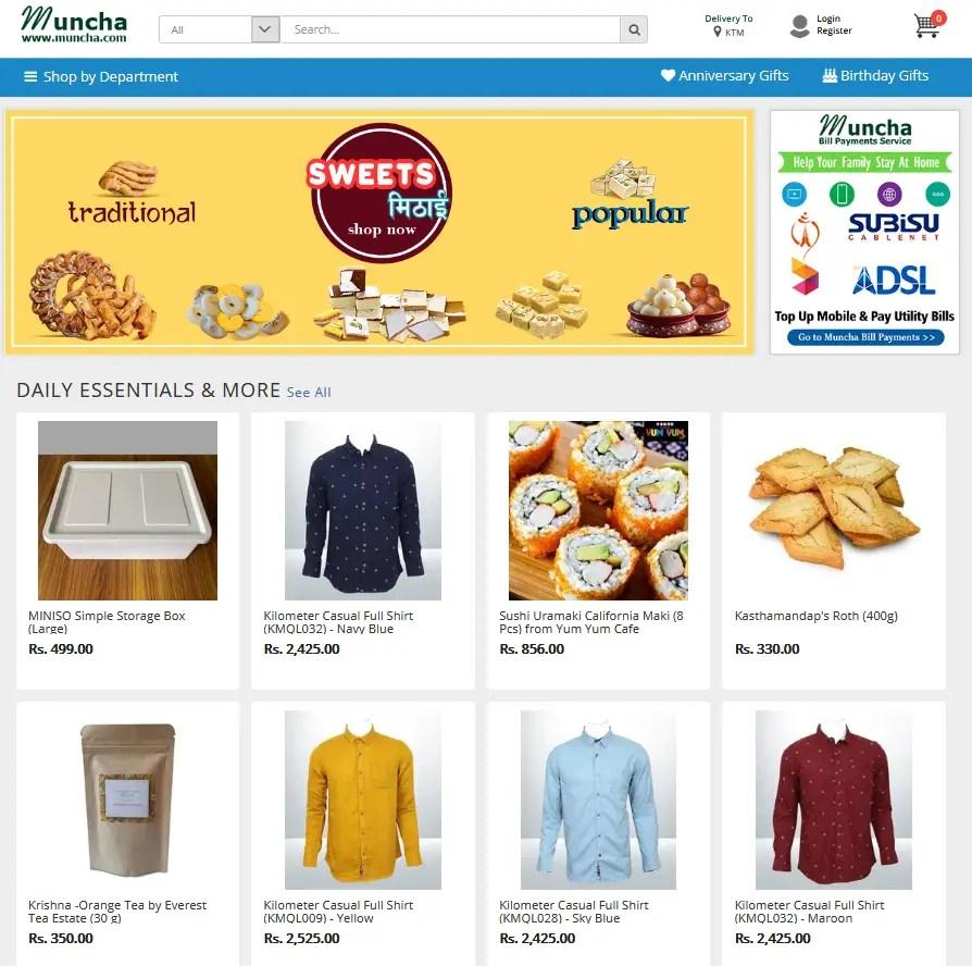 muncha.com online shopping in nepal