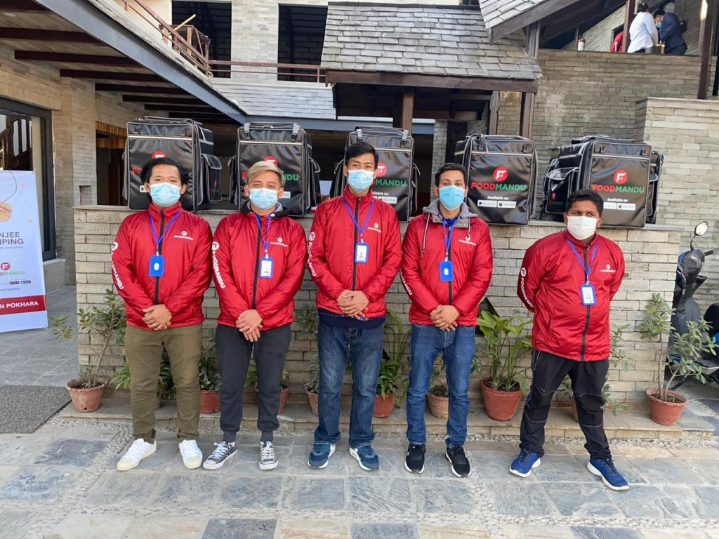 Foodmandu delivery team in Pokhara