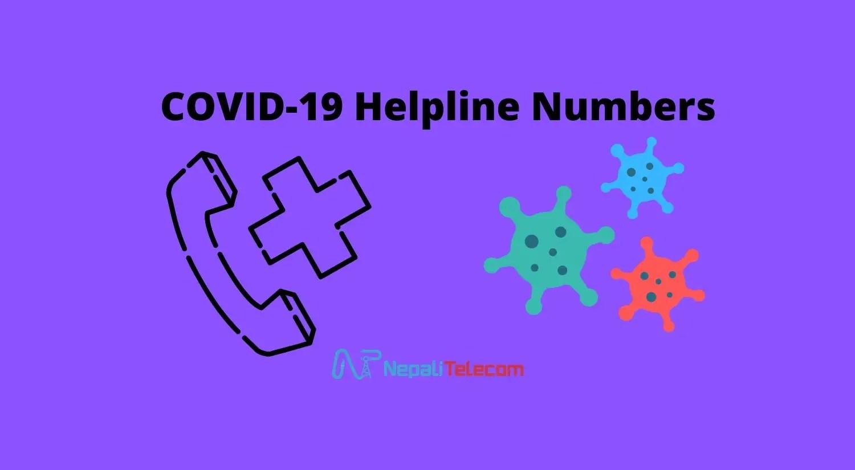 COVID-19 helpline numbers Nepal