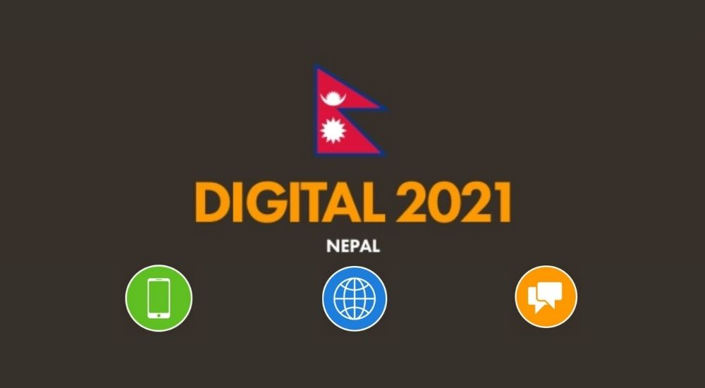 Digital 2021 Nepal Mobile Internet users