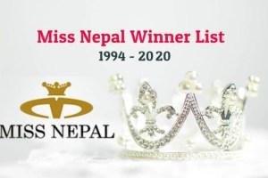 Miss Nepal Winner List