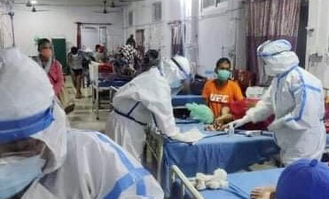Frontline warriors battle COVID in Nepal's hospital system.