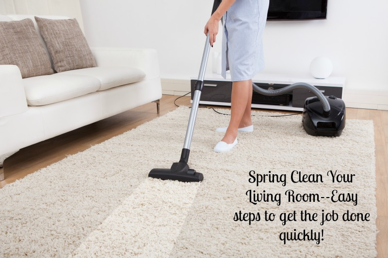 Spring Clean Your Living Room  NEPA Mom