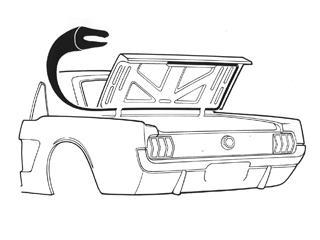 Weatherstrip, NE Performance Mustang