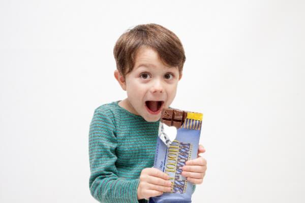 チョコレート好きな男の子