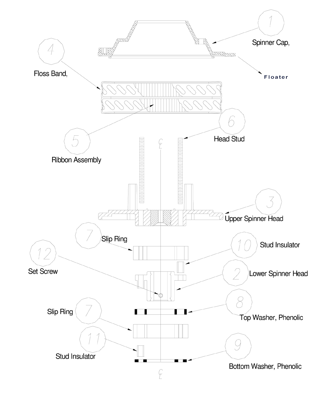 cotton candy machine parts