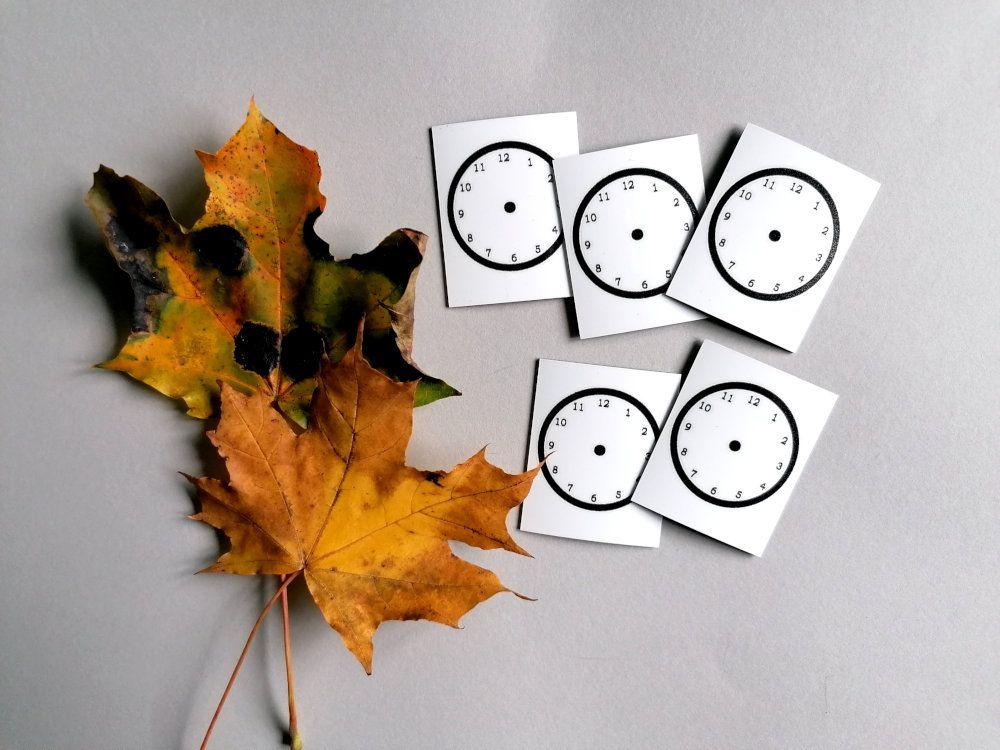 Nepsy Tips lapsen toiminnanohjauksen tukemiseen suunniteltu magneetti tyhjä kellotaulu.