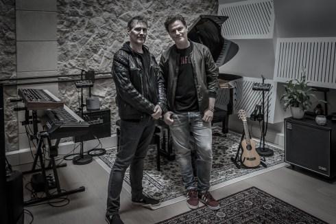 Anders Olsson & Fredrik Thomander in Palma Music Studio