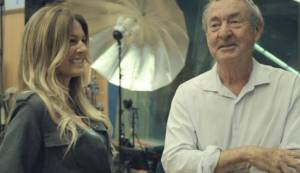 Nick Mason and Kirsty Bertarelli in Abbey Road Studios