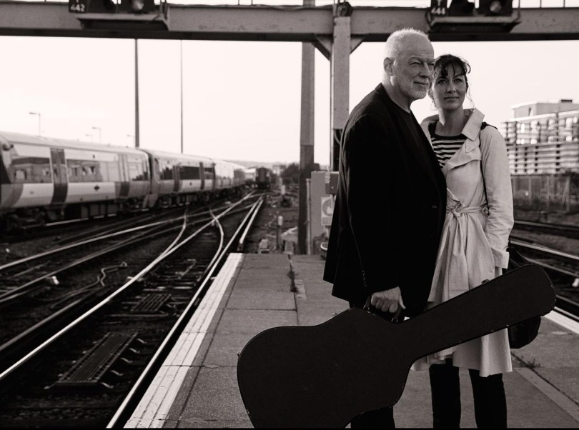 David Gilmour and wife Polly Samson