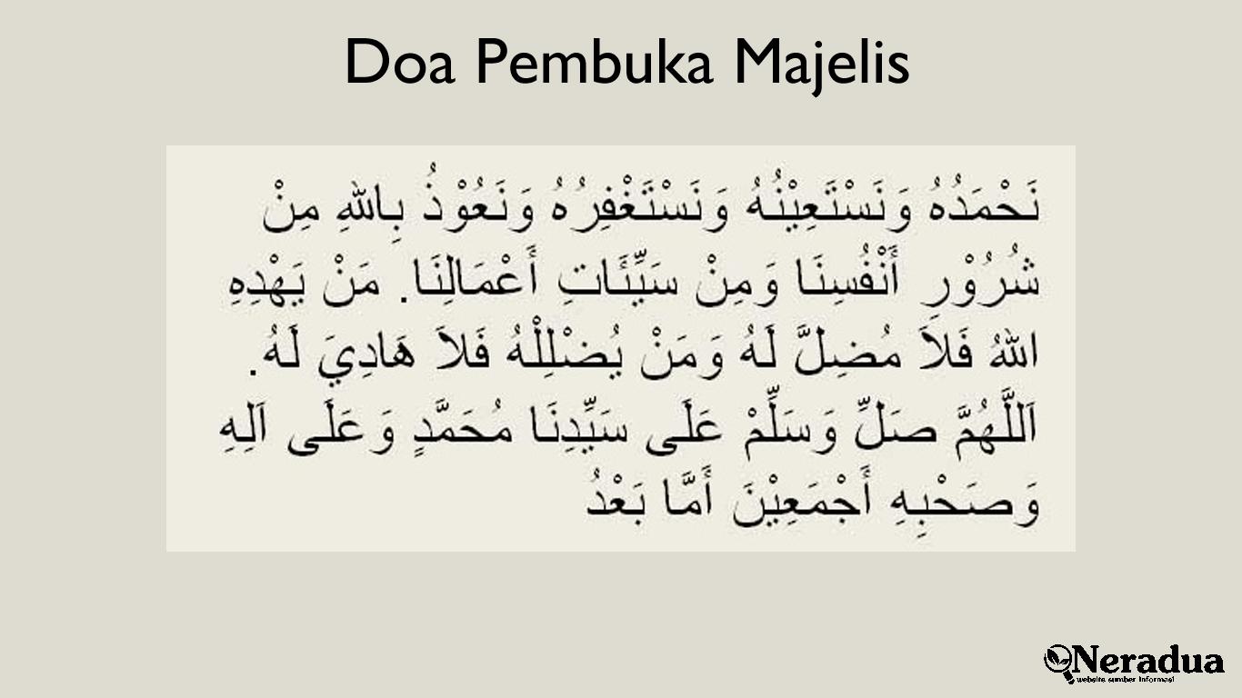 Doa Pembuka Majelis 2