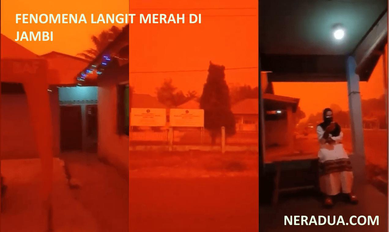 FENOMENA LANGIT MERAH DIJAMBI