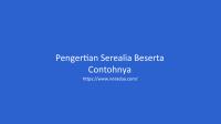 Pengertian Serealia