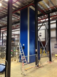 Dolly Lift during installation at ground floor level