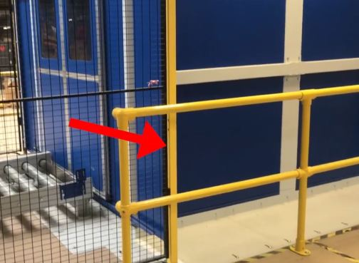 Steel Plates on floor join lift to the mezzanine floor and aid better fire protection