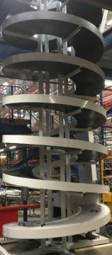 Spiral Elevator in Distribution Centre