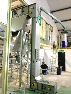 Bucket Elevator Installation at a Food Industry Site