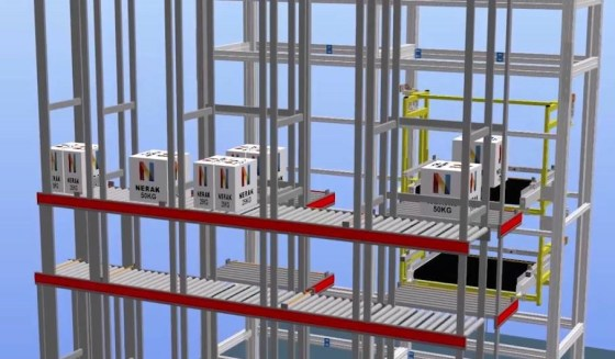 Dual Reciprocating Hoist System with Dual Carriages