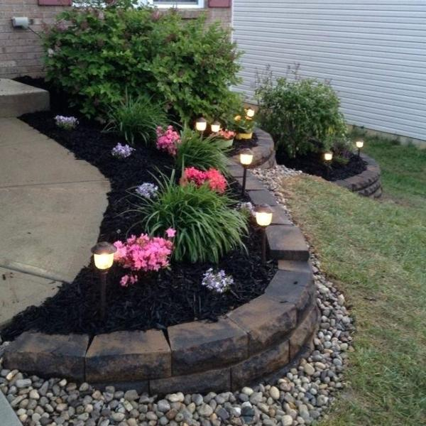 spring landscaping ideas with mulch