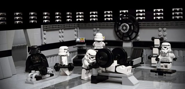 storm troopers hit the gym to gain weight and bulk up