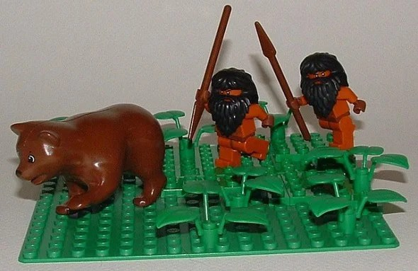Cavemen Hunt Paleo Bear