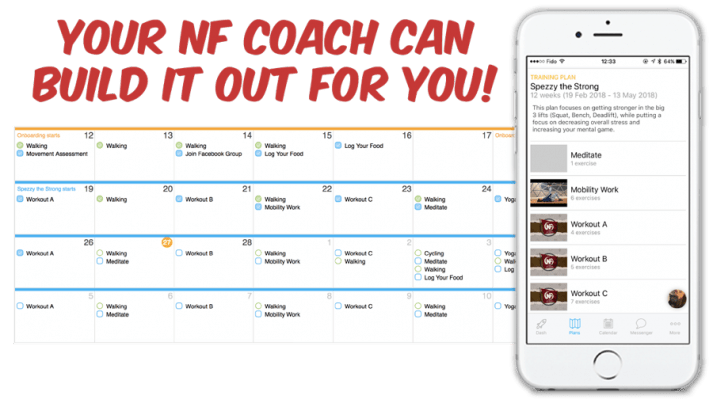 Your coach can build a workout for you!