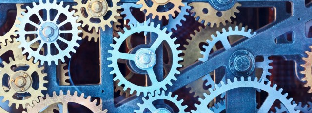 A picture of gears, which will represent how intermittent fasting works.
