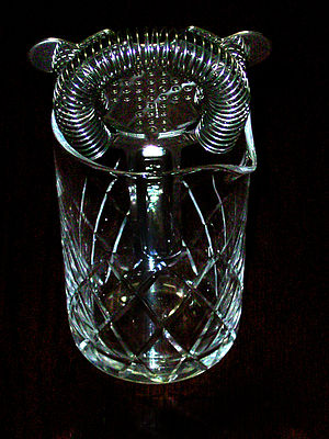Cocktail Strainer with Glass