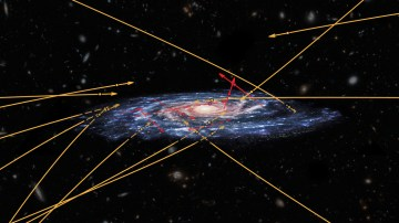 Visitors from other galaxies- stars that could reach the Milky Way from the outside