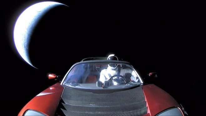 ELON MUSK SHARES 'LAST' IMAGE OF TESLA CAR AS IT HEADS INTO DEEP SPACE_starman