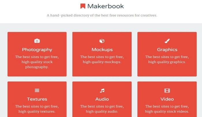 Makerbook The best free resources for creatives.