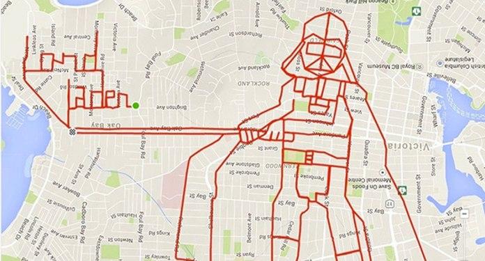 disegnare con il GPS