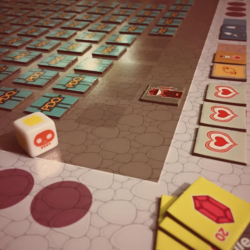 PDQ played on custom mat