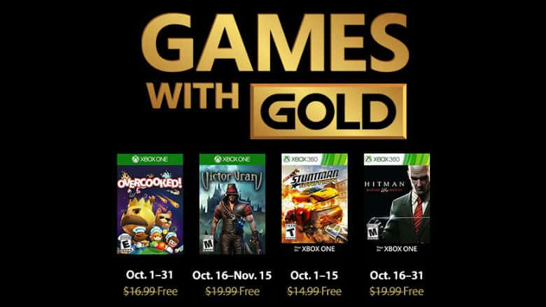 October Games With Gold Xbox Game Pass Titles Announced