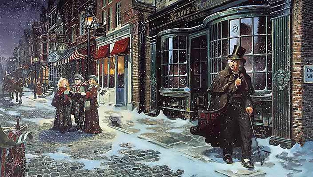 Nerdonomy Christmas Carol: a Creative Commons illustration from Charles Dickens' A Christmas Carol