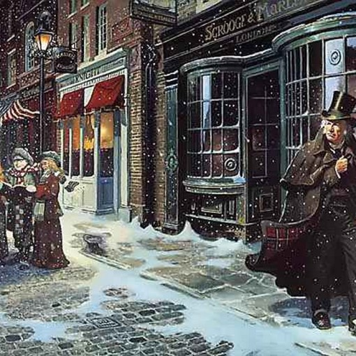 Nerdonomy Christmas Carol: a Creative Commons illustration from Charles Dickens' A Christmas Carol